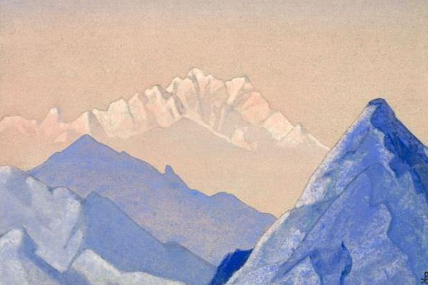 Morning # 138 morning (Hip mountain). Roerich N.K. (Part 4)