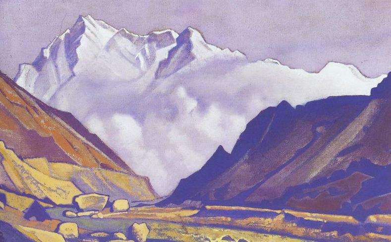 Nanga Parbat # 20 Nanga Parbat (valley at the snowy mountains). Roerich N.K. (Part 4)