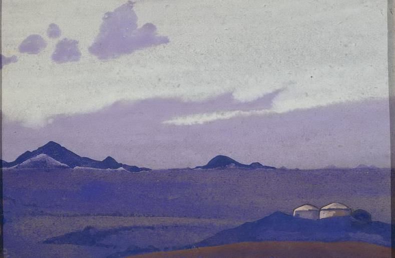 Mongolia # 185 (Mongolia. Yurt). Roerich N.K. (Part 4)