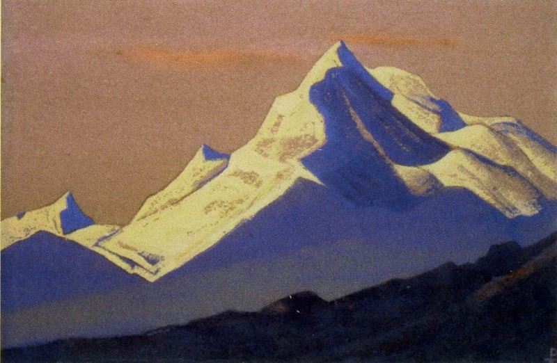 Himalayas # 62 The snow shining on the dying sky. Roerich N.K. (Part 4)