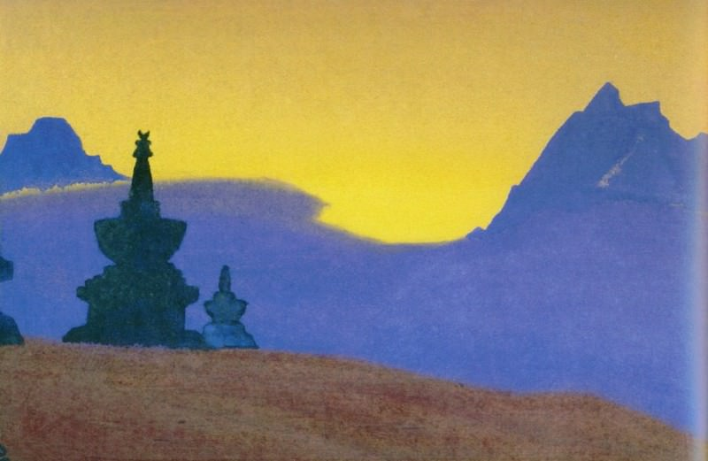 Evening # 69 evening (at Stupas blue mountains). Roerich N.K. (Part 4)