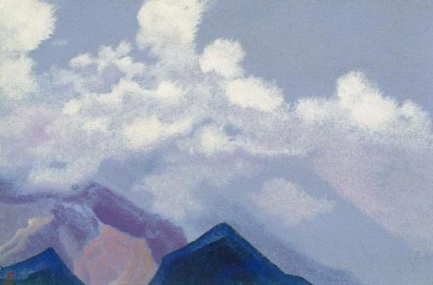 Himalayas # 118 Clouds above the peaks. Roerich N.K. (Part 4)