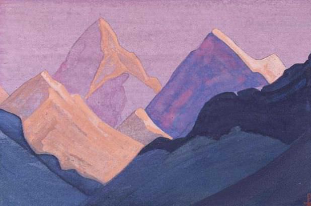 The Himalayas # 141 The fiery peaks. Roerich N.K. (Part 4)