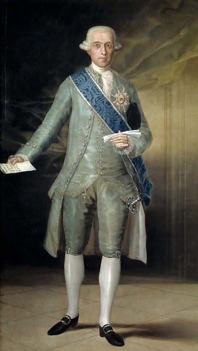 Гойя и Лусиентес, Франсиско де -- Хосе Монино у Редондо, граф Флоридабланка. Часть 1 Музей Прадо