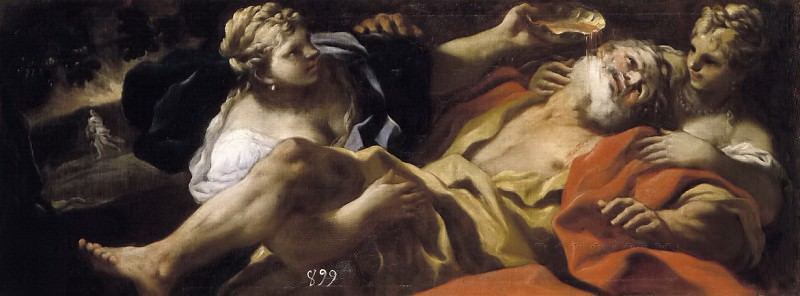 Giordano, Luca -- Lot embriagado por sus hijas. Part 1 Prado museum