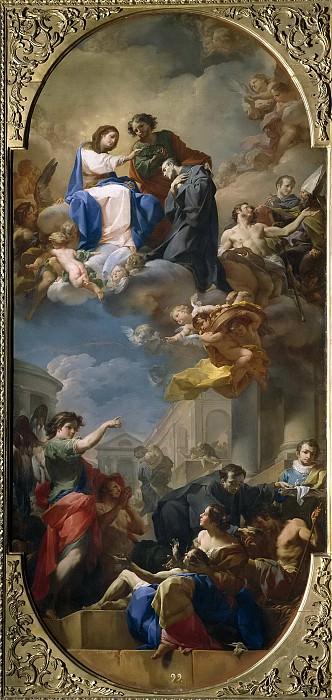 Giaquinto, Corrado -- Triunfo de San Juan de Dios. Part 1 Prado museum