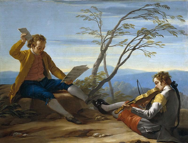 Кастильо, Хосе дель -- Два музыцирующих мальчика. Часть 1 Музей Прадо