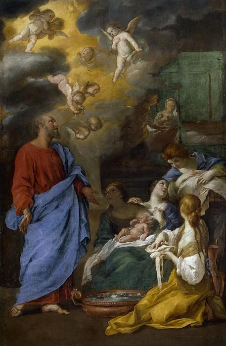 Sacchi, Andrea -- Nacimiento de San Juan Bautista. Part 1 Prado museum