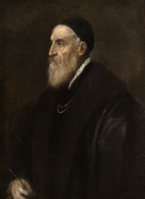 Tiziano, Vecellio di Gregorio -- Autorretrato. Part 1 Prado museum