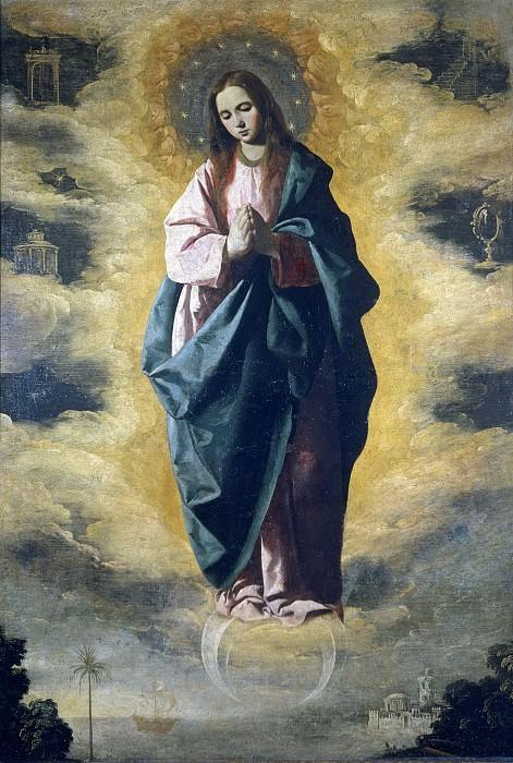 Zurbarán, Francisco de -- La Inmaculada Concepción. Part 1 Prado museum