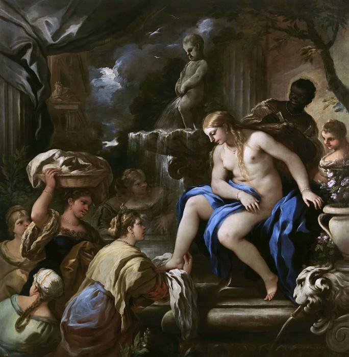 Giordano, Luca -- Bethsabé en el baño. Part 1 Prado museum