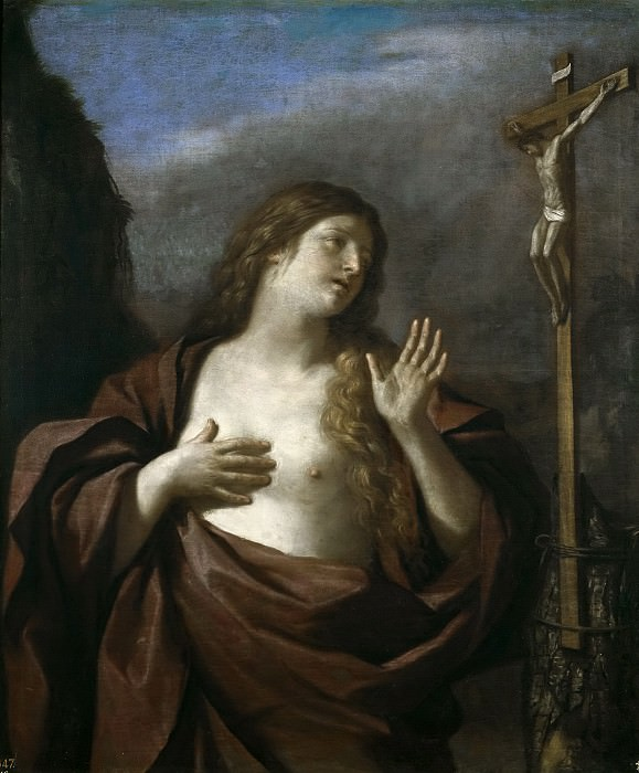 Guercino -- Magdalena penitente. Part 1 Prado museum