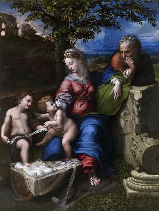 Rafael -- Sagrada Familia del roble. Part 1 Prado museum