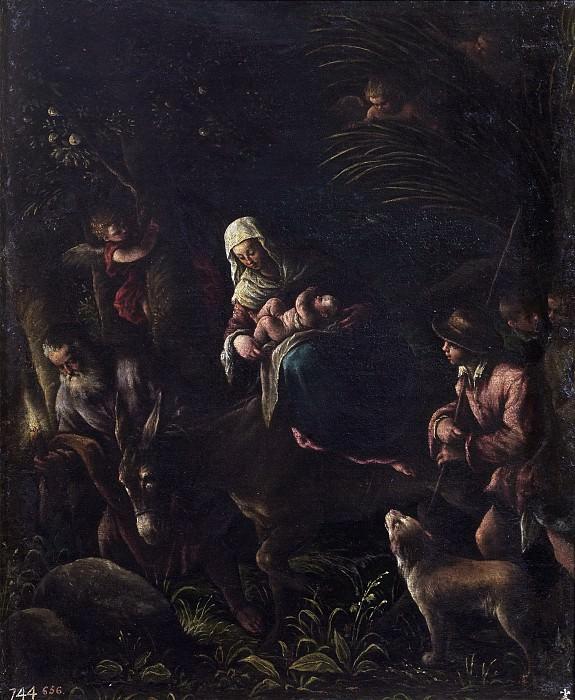 Bassano, Francesco -- La Huida a Egipto. Part 1 Prado museum