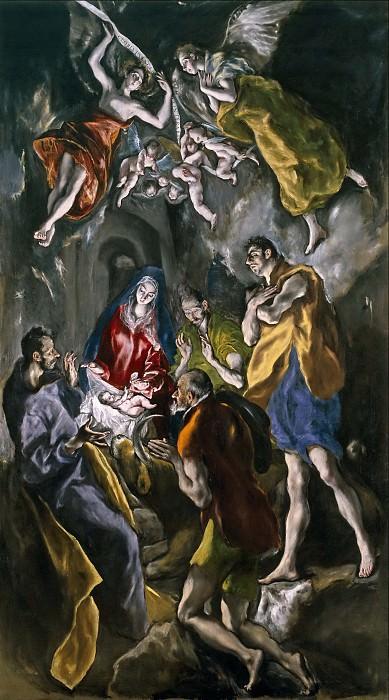 El Greco -- La Adoración de los pastores. Part 1 Prado museum