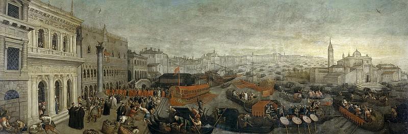 Bassano, Leandro -- Embarco del Dux de Venecia. Part 1 Prado museum