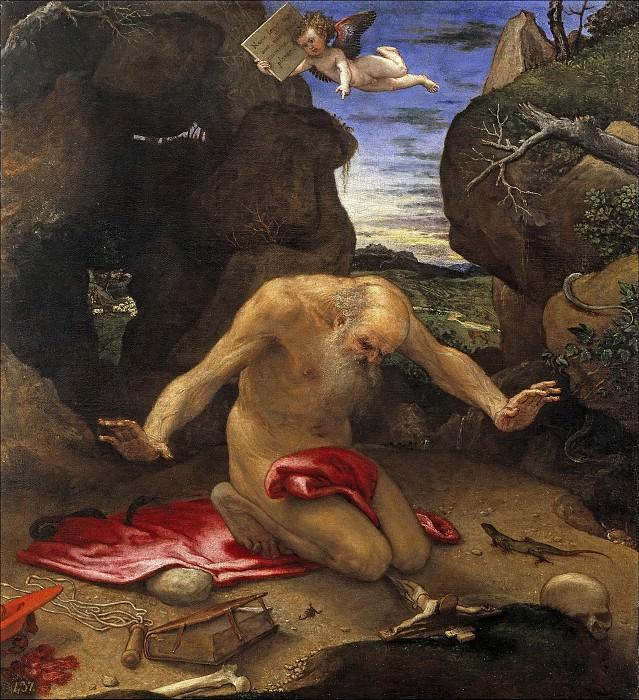 Lotto, Lorenzo -- San Jerónimo penitente. Part 1 Prado museum