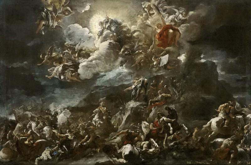 Giordano, Luca -- Victoria de los israelitas y cántico de Débora. Part 1 Prado museum