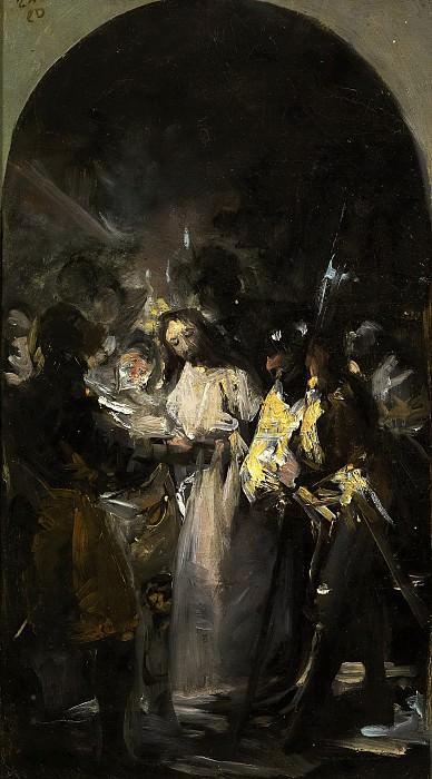 Гойя и Лусиентес, Франсиско де -- Взятие Христа под стражу. Часть 1 Музей Прадо