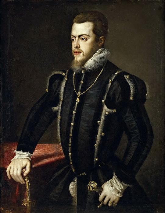 Anónimo (Taller de Tiziano, Vecellio di Gregorio) -- Felipe II. Part 1 Prado museum