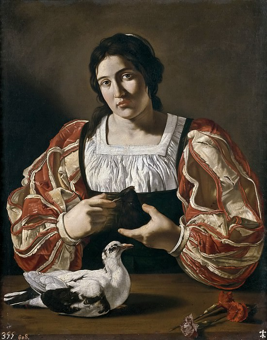 Boneri, Francesco -- Mujer con paloma. Part 1 Prado museum