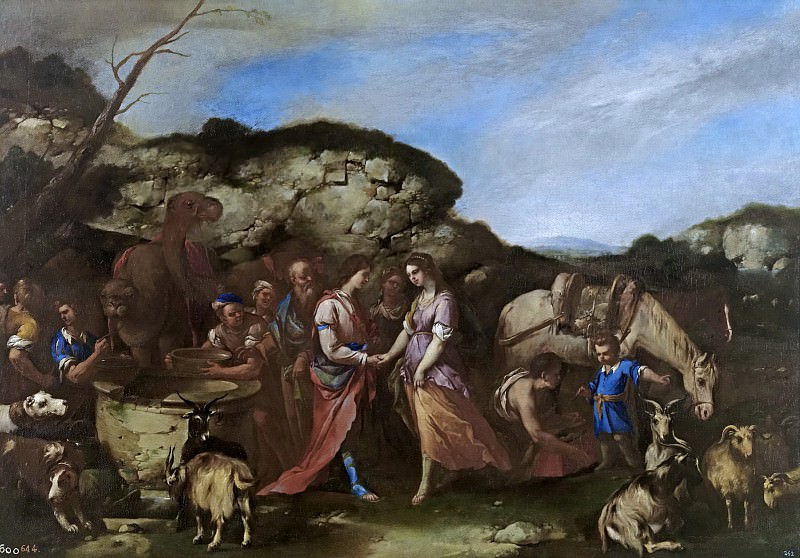 Giordano, Luca -- Isaac y Rebeca. Part 1 Prado museum