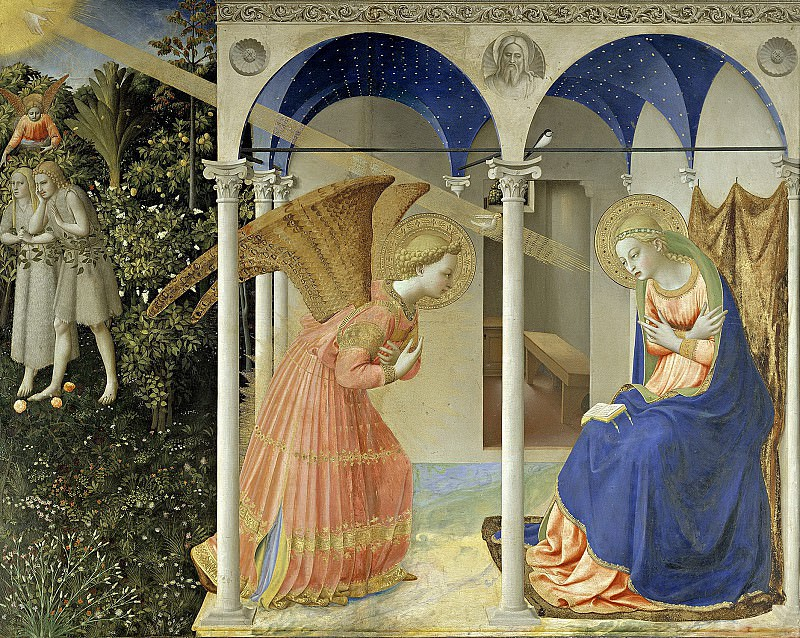Angelico, Fra -- La Anunciación. Part 1 Prado museum