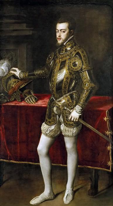 Tiziano, Vecellio di Gregorio -- Felipe II. Part 1 Prado museum