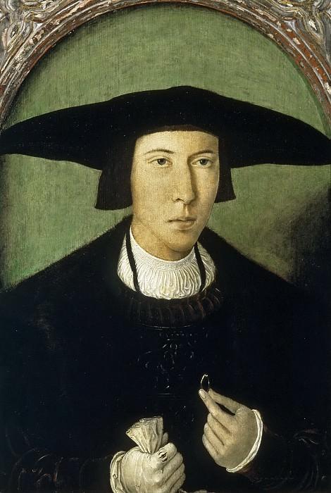 Mostaert, Jan -- Retrato de caballero joven. Part 1 Prado museum