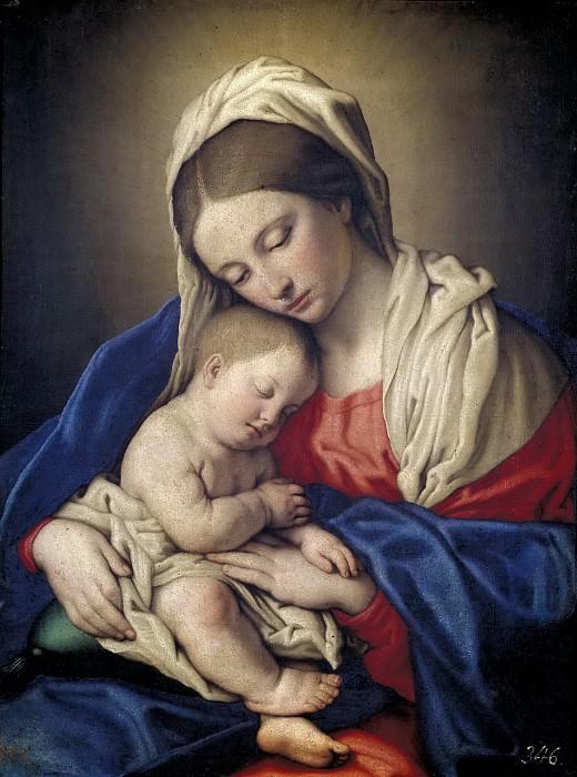 Sassoferrato -- La Virgen con el Niño dormido. Part 1 Prado museum