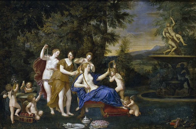 Albani, Francesco -- El tocador de Venus. Part 1 Prado museum