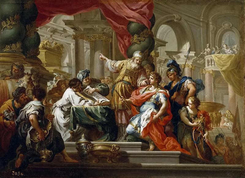 Conca, Sebastiano -- Alejandro Magno en el Templo de Jerusalén. Part 1 Prado museum