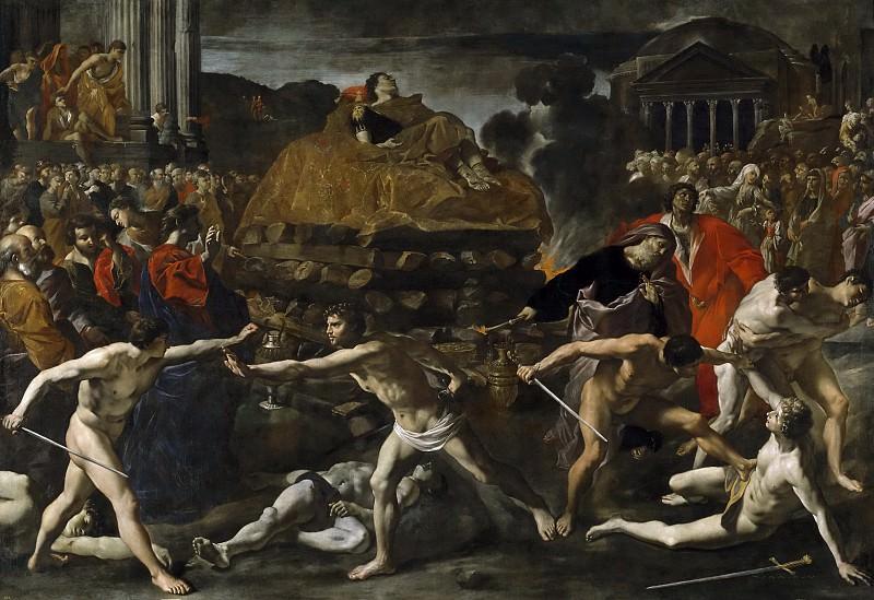 Lanfranco, Giovanni di Stefano -- Exequias de un emperador romano. Part 1 Prado museum