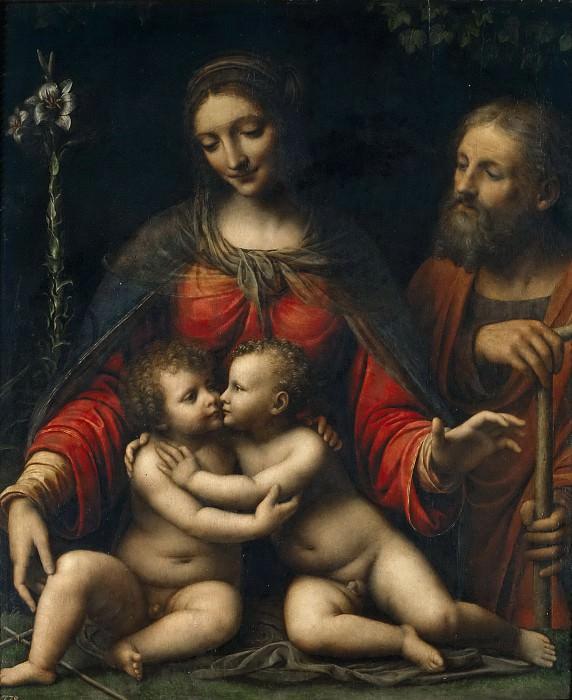 Luini, Bernardino -- Sagrada Familia. Part 1 Prado museum