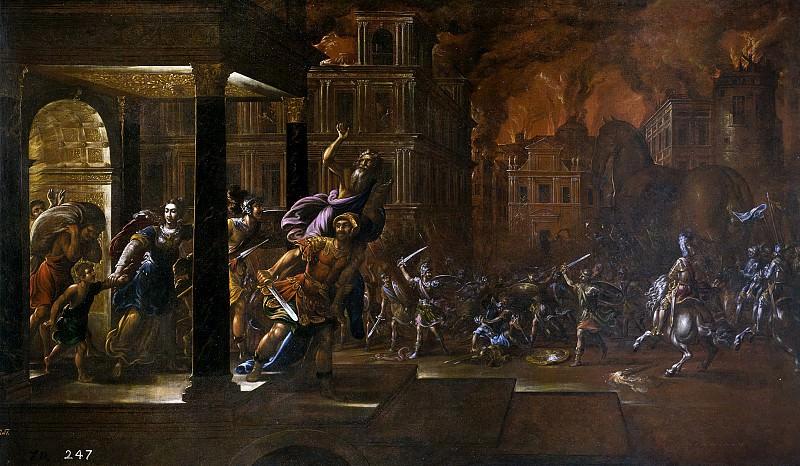 Corte, Juan de la -- El incendio de Troya. Part 1 Prado museum