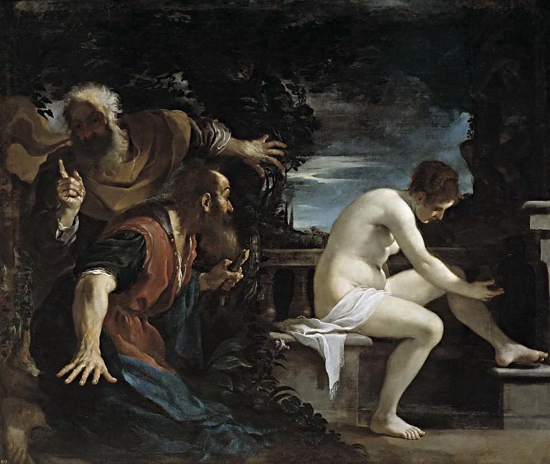 Guercino -- Susana y los viejos. Part 1 Prado museum
