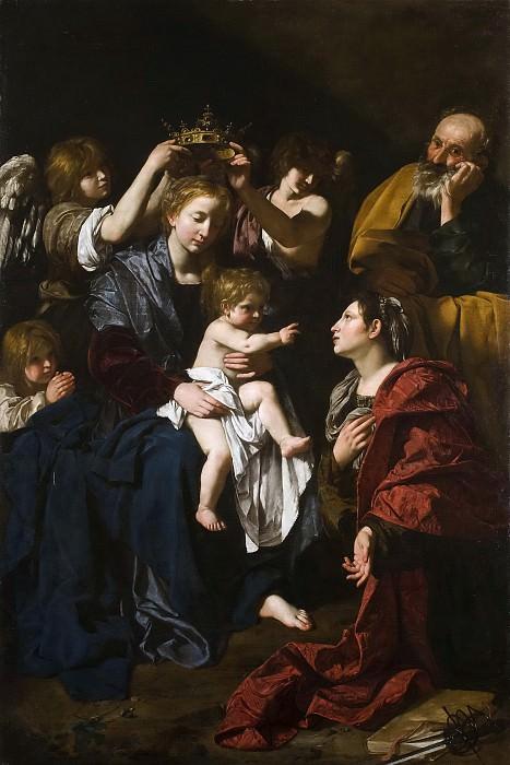 Cavarozzi, Bartolomeo -- Sagrada Familia con Santa Catalina. Part 1 Prado museum