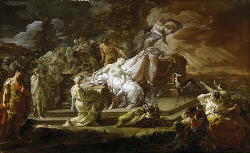 Giaquinto, Corrado -- El sacrificio de Ifigenia. Part 1 Prado museum
