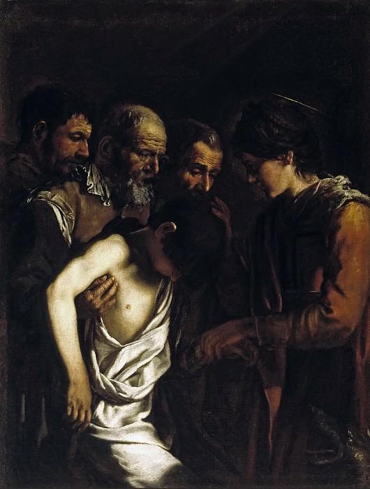 Serodine, Giovanni -- Santa Margarita resucita a un joven. Part 1 Prado museum