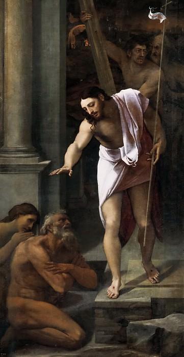 Piombo, Sebastiano del -- Bajada de Cristo al Limbo. Part 1 Prado museum