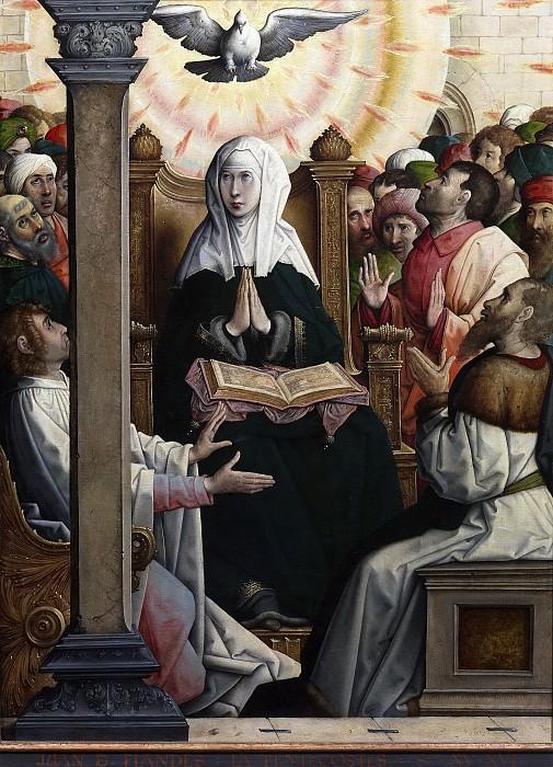 Хуан Фландрский -- Сошествие Святого Духа пятидесяти. Часть 1 Музей Прадо