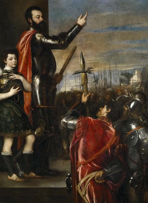 Tiziano, Vecellio di Gregorio -- Alocución del marqués del Vasto a sus soldados. Part 1 Prado museum