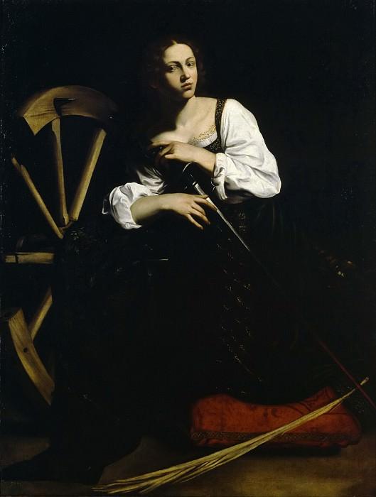 Anónimo (Copia Caravaggio) -- Santa Catalina. Part 1 Prado museum