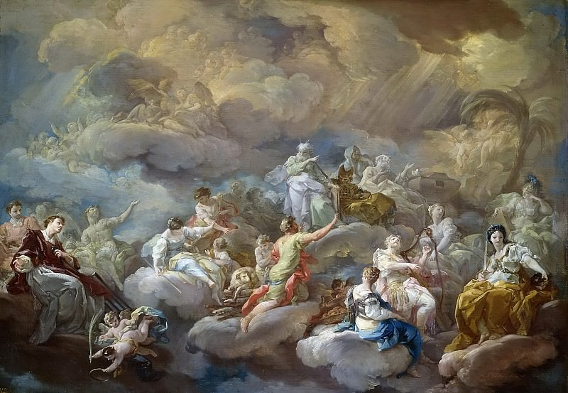 Giaquinto, Corrado -- San Lorenzo en la Gloria. Part 1 Prado museum