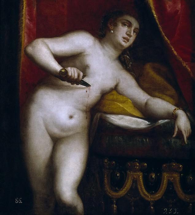 Камбьязо (приписывается), Лука -- Смерть Лукреции. Часть 1 Музей Прадо