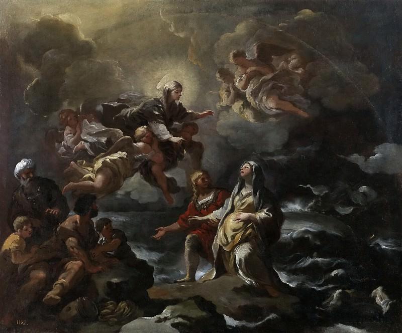 Джордано, Лука -- Богородица спасает св Бригитту во время кораблекрушения. Часть 1 Музей Прадо