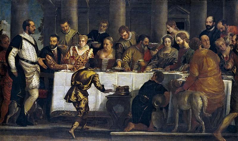 Veronese, Paolo (Taller de) -- Bodas de Canaán. Part 1 Prado museum