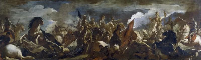 Giordano, Luca -- Prisión del condestable de Montmorency, en la Batalla de San Quintín. Part 1 Prado museum