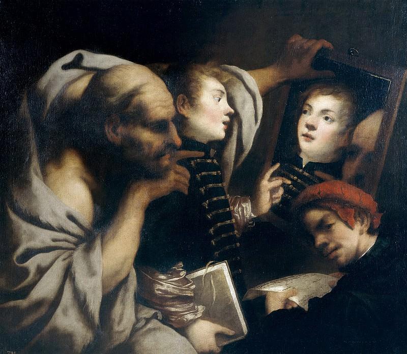 Vecchia, Pietro della -- Sócrates y dos alumnos. Part 1 Prado museum