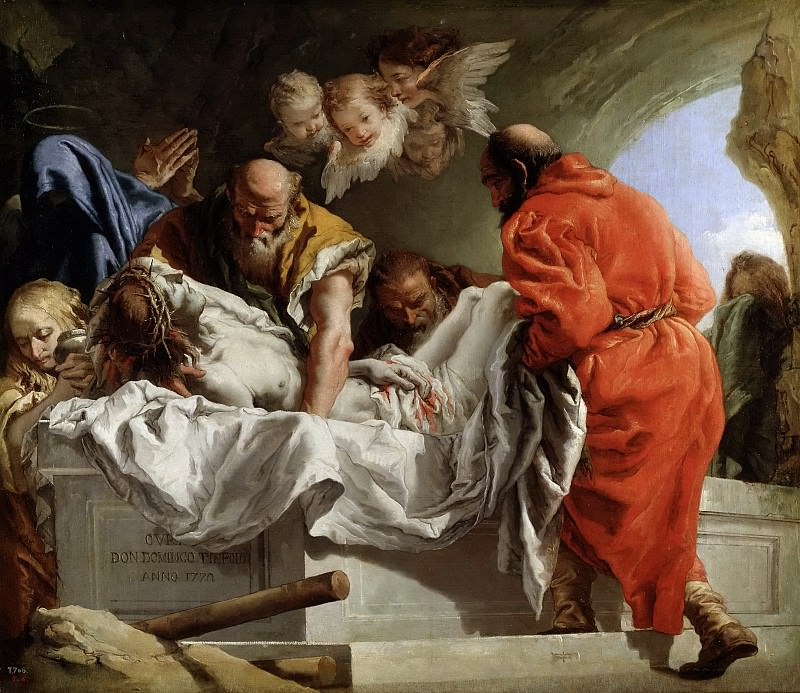 Tiepolo, Giandomenico -- Entierro de Cristo. Part 1 Prado museum